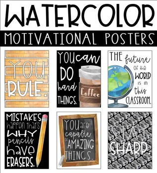 Watercolor Motivational Posters