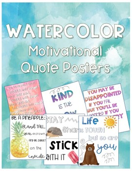 Watercolor Motivational Quote Posters