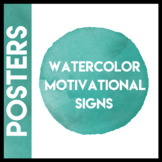 Watercolor Motivational Signs