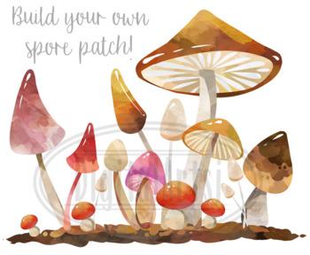 Watercolor Mushrooms Clipart