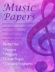 Watercolor Music Backgrounds Digital Papers with Treble Clef
