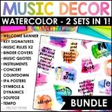 Watercolor Music Decor BUNDLE! {Posters, Symbols, Instrume