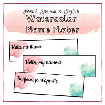 Watercolor Name Plates