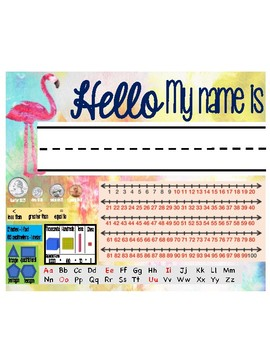 Watercolor Name Tags