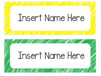 Watercolor Name Tags [editable]
