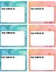 Watercolor NamePlates and NameTags