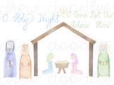 Watercolor Nativity Dresses Digital Clip Art Set