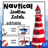Editable Labels   Teacher Toolbox Labels   Nautical   Beach Classroom Decor