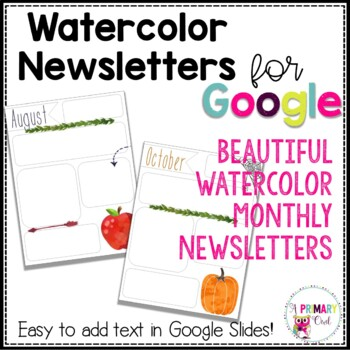 Watercolor Newsletters for Google