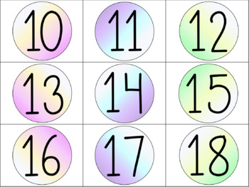 Ombre Number Labels