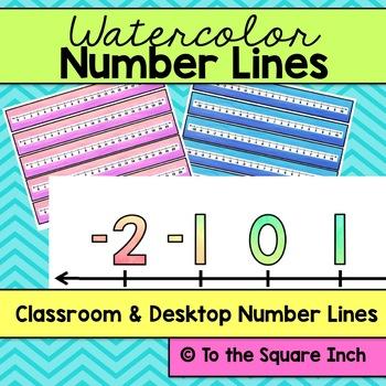 Watercolor Number Line