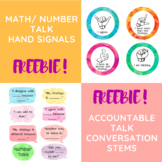 Watercolor Number/Math Talk Posters: Hand Signals & Accountable Talk Stems