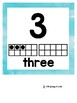 Watercolor Number Posters 1-20 with Ten Frame