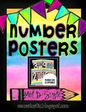 Watercolor Number Posters (Color Splash Series)