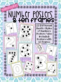 Watercolor Number Posters with Counting Dots and Ten Frames