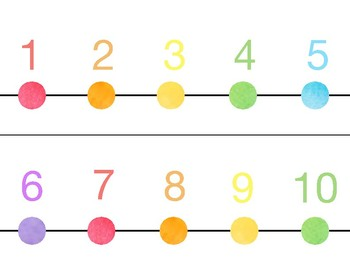 Watercolor Number line