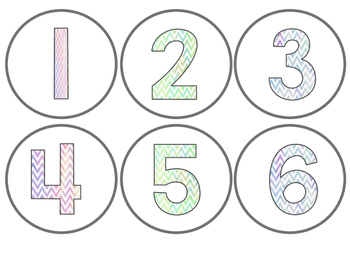 Watercolor Numbers