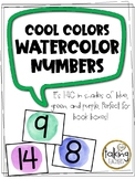 Watercolor Numbers- Cool Colors