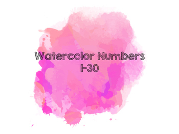Watercolor Numbers (Pink)