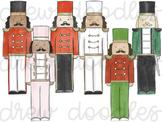 Watercolor Nutcrackers Dresses Digital Clip Art Set