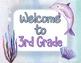 Watercolor Ocean Sea Life Theme Classroom Decor {Editable}