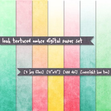 Watercolor Ombre Digital Paper Set, Watercolor Backgrounds