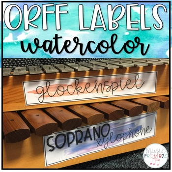 Watercolor Orff Labels