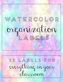Watercolor Organization Labels