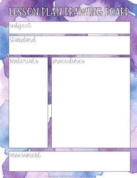 Watercolor Organizational Pages for Teachers