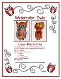Language Arts Writing with Art Project - How to Draw & Watercolor Owls