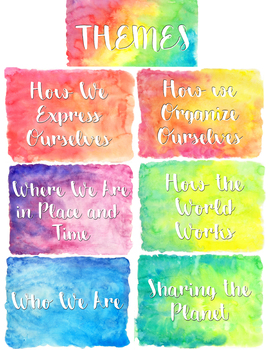 Watercolor PYP Themes