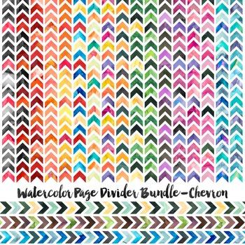 Watercolor Page Divider Bundle