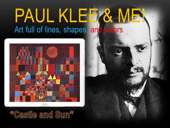 Elementary Art Lesson K: Paul Klee Castle and Sun Watercol