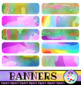 Watercolor Paint Banners