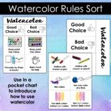 Watercolor Paint Rules Pocket Chart Sort
