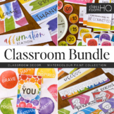WATERCOLOR PAINT Classroom Decor - BUNDLE