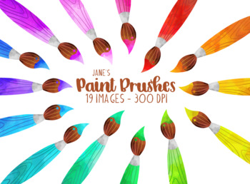 Watercolor Paintbrushes Clipart