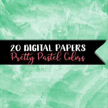 Watercolor - Painted Digital Papers