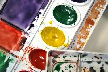 Watercolor Paints- Stock Photo