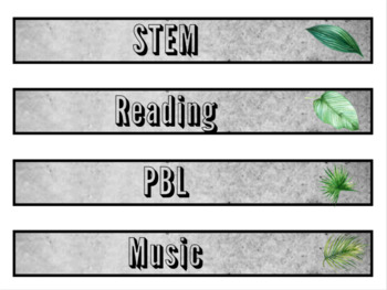 Watercolor Palm Leaf Decor Binder and Spine Labels: PRE-MADE & EDITABLE included