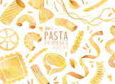 Watercolor Pasta Clipart