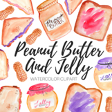 Watercolor Peanut Butter And Jelly Clipart