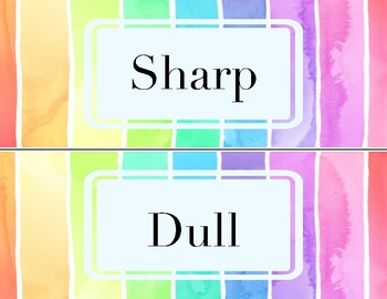 Watercolor Pencil Labels