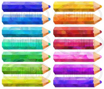 Watercolor Pencils Clipart