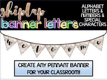 Shiplap Pennant Banner Set: Letters, Numbers & Special Characters