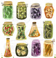 Watercolor Pickling Clipart