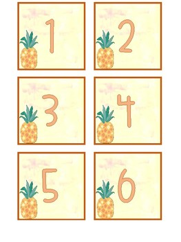Watercolor Pineapple Calendar