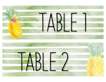 Watercolor Pineapple Labels {Editable}