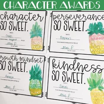 Watercolor Pineapple School Counseling Office Mini Decor Set
