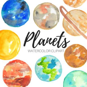 Watercolor Planet astronomy Clip art